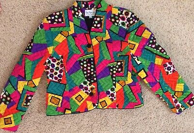 Vintage Gay Boyer Collections Of New York Ladies Colorful Blazer Jacket USA