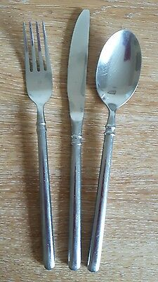 Set Of Cutlery Knives Forks And Spoons