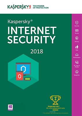 KASPERSKY INTERNET SECURITY 2018  1 PC /1 YEAR Big Sale Off $6.4 Buy it Today