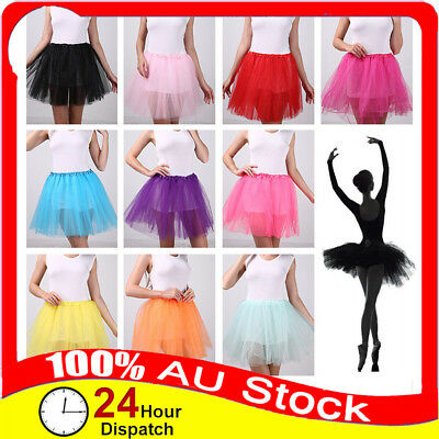 New Womens Adults Girls Tutu Ballet Skirt Princess Dress Party Costume Dancewear