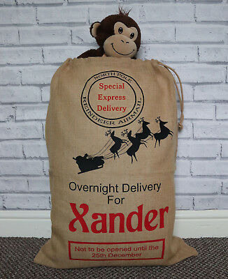 Santa sack, Personalised santa sack, Present sack, Xmas stocking