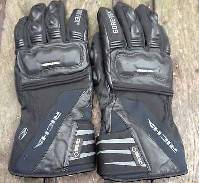 Richa Cold Protect Gortex Waterproof Textile Motorcycle Gloves- Black -  Size XL