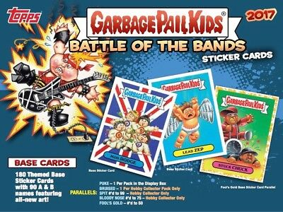 2017 Garbage Pail Kids Battle Of The Bands Complete 180 Card Set With Wrappers
