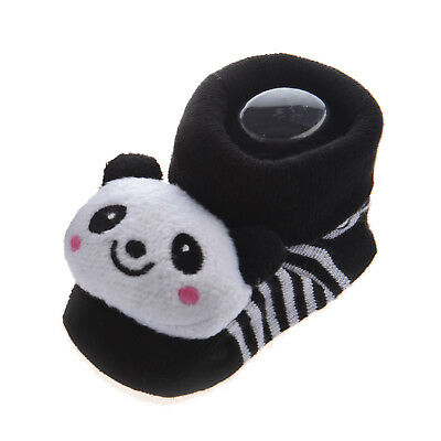 10x( Panda - Irresistibly Cute Baby Boy Girl 3D Bootie Socks Anti / Non S 0 B7O8