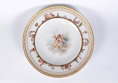 Antique Very Fine Meissen Capodimonte Relief Plate