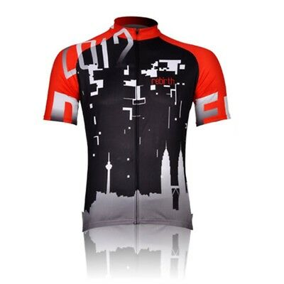 2017 Mens Cycling Jersey Outdoor Bicycle Tops Bike Short Sleeve Shirts Size 3XL