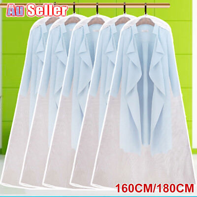 Clear Wedding Dress Bridal Gown Garment Protector Dustproof Cover Storage Bag