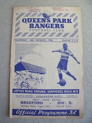 Queens Park Rangers v Leicester City 1948/49