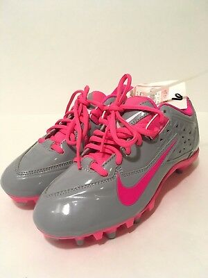 NWT Nike Hot Pink & Gray Lacrosse Cleats Women's Shoes Size 6