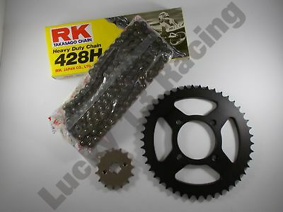 RK Chain & JT sprocket kit 17T front 42T rear for Yamaha YBR125 05 06