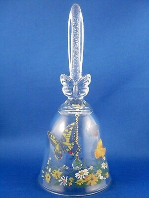 Retro 1990 AVON Crystal North American BUTTERFLIES DINNER BELL Collectable Gift