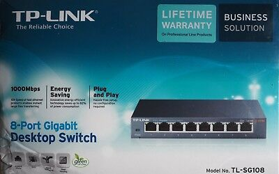 TP-Link TL-SG108 8x 10/100/1000 Mbit Desktop Switch
