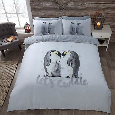 Penguin Duvet Cover With Pillowcases Quilt Cover Bedding Set Single Double King