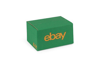 "eBay Branded Packaging Small Cardboard Box (7.87"" x 5.9"" x 3.93"") Green/Yellow"