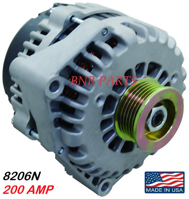 200 AMP 8206N ALTERNATOR CHEVY CADILLAC GMC High Output HD PERFORMANCE USA MADE