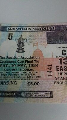 The F .A Challenge cup final tie 19/05/1984 ticket stub