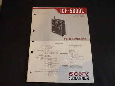 Original Service Manual Sony Icf-a6500 A6500l Tv, Video & Audio