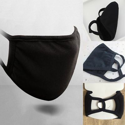 Unisex Black Winter Warm Mouth Anti-Dust Flu Face Mask Surgical Respirator Masks