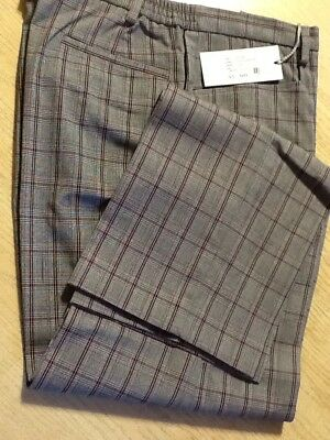 Green Lamb Ladies Half Lined Winter Trousers Size 12 Grey/Cardinal