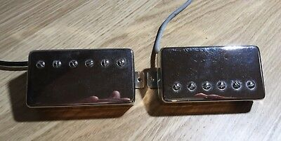 Axetec Iron Gear Blues Engine Humbucker Pair. Chrome Covers. Good condition.