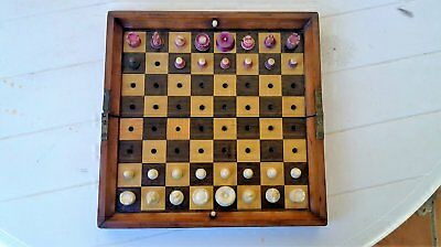 "JAQUES TRAVELING CHESS SET 1880 ""Pieza ünica"""