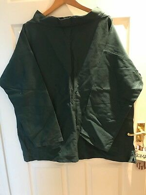 """FISHERMANS SMOCK IN GREEN SIZE 44"""" CHEST,in immaculate condition"""