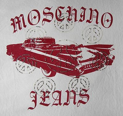 T-SHIRT man  vintage 90's  MOSCHINO Jeans TG.M made in Italy  Rare