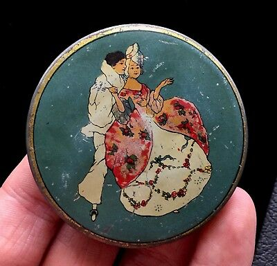 Antique La-May Sport Vanity Powder Decorative Tin Herbert Roystone NY M500