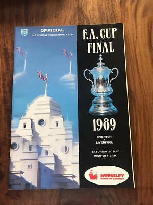 Everton V Liverpool 1989 Fa Cup Final Programme Free Postage Look