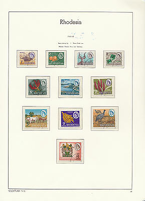 Rhodesia: 1966/68, Mardon Definitives, CTO