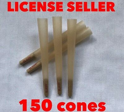 RAW Organic cone 1 1/4 Size Pre-Rolled Cones with Filter  (150 pack)