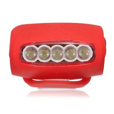 10x(Silicone Bike Bicycle Rear Wheel LED Flash Light Red (7 LED) T6K4