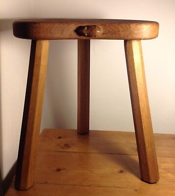 Robert Thompson Mouseman Oak 3 Leg Stool
