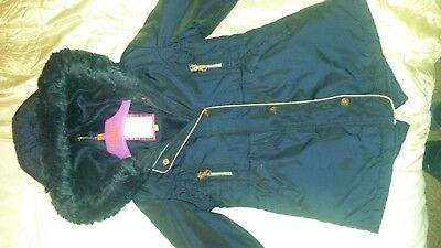 Girls TED BAKER Age 3-4 Coat Navy Blue