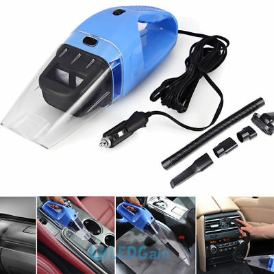 Portable 120W 12V Handheld Cyclonic Car Vacuum Cleaner Wet/Dry Duster Dirt Home