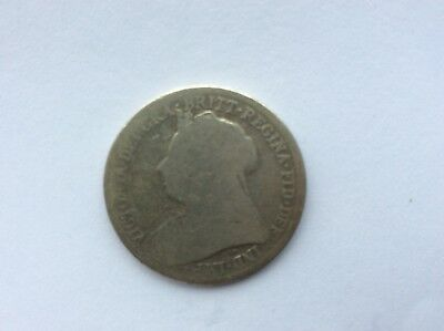 Queen Victoria 1899 one shilling coin