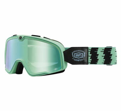 100% Barstow Goggles Size Conifer w/Green Lens