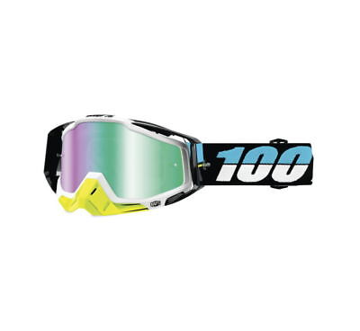 100% Racecraft Goggles Size St. Barth w/Green Lens