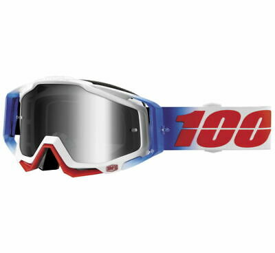 100% Racecraft Goggles Size Fourth w/Silver Lens