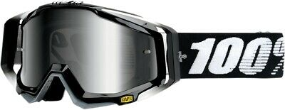 100% Racecraft Goggles Size Abyss Black w/Silver Lens