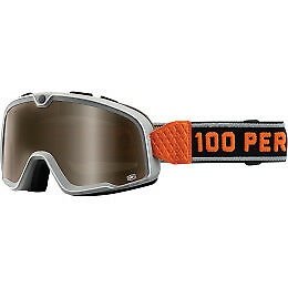 100% Barstow Goggles Size Bowery w/Bronze Lens