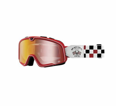 100% Barstow Goggles Size OSFA 2, Red Lens