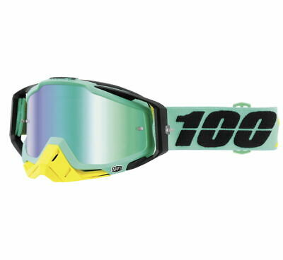 100% Racecraft Goggles Size Kloog w/ Green Lens