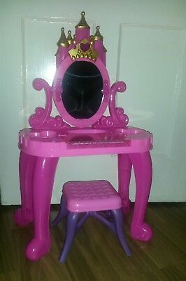 Girls Pink Vanity Dressing Table with Mirror and Stool Play Set with Piano!