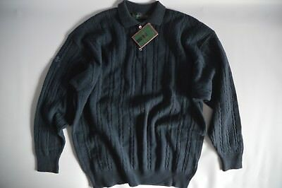 Superwash Lambswool By Glenmuir Slate Collared Jumper - Sil 6149Cn - Size Xl