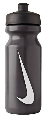 Nike Big Mouth Water Bottle 650ml Black With White Logo Gym Sports Brand New