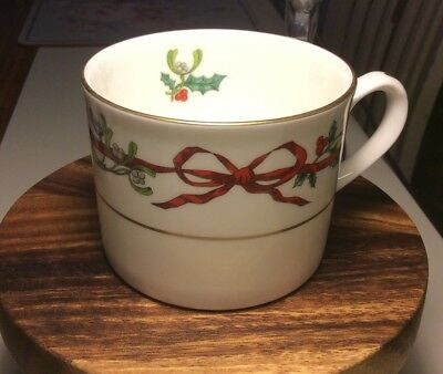 Royal Worcester Holly Ribbons Tea Cup Only Brand New