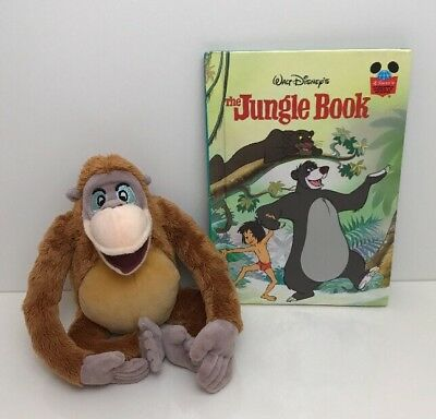 Disney The Jungle Book King Louie Plush Soft Toy And Book Bundle