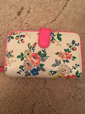 White And Pink Floral Leather Cath Kidston Purse