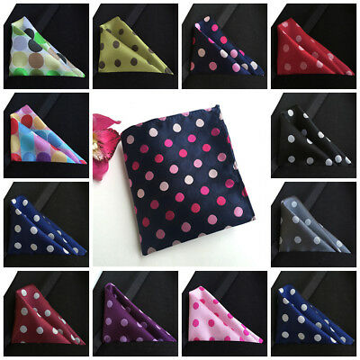 Wedding Men's Polka Dot Handkerchief Classic Silk Gentry New Suit Pocket Square